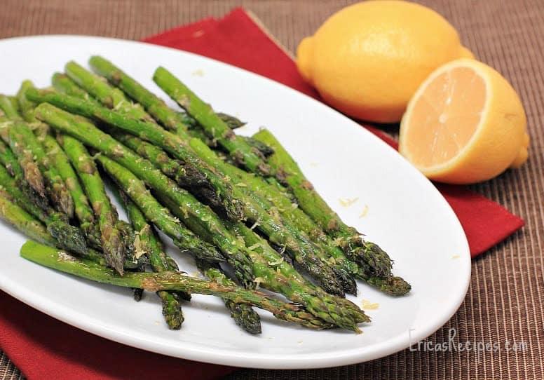 Simple Roast Asparagus with Lemon