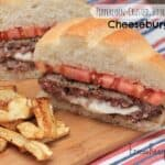 Peppercorn-Crusted, Boursin-Stuffed Cheeseburgers