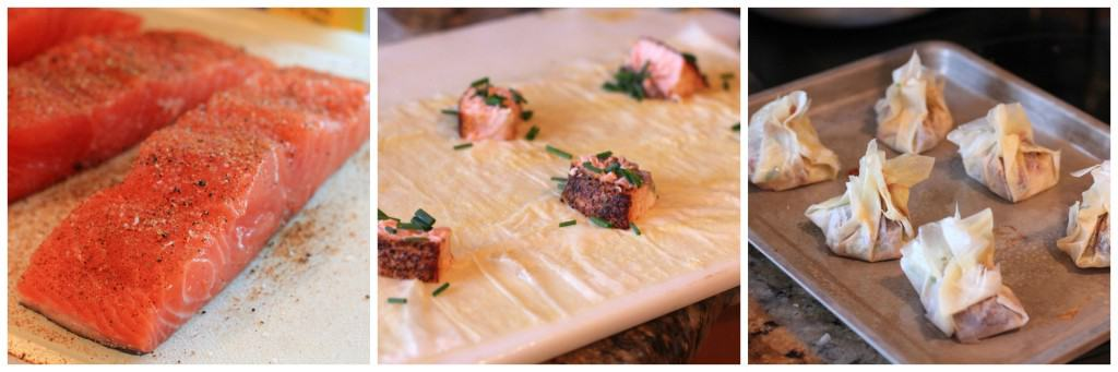 Salmon Dijon Purses