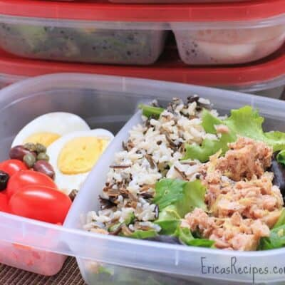 Wild Rice and Tuna Nicoise Salad