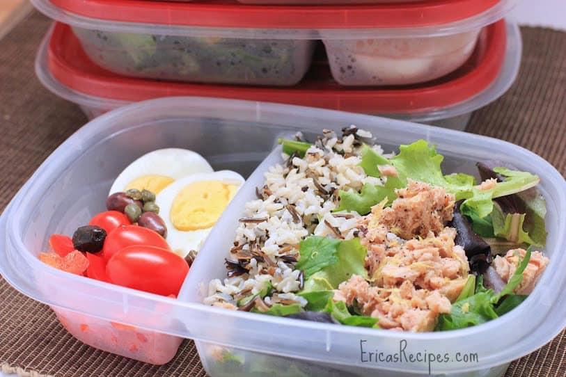 Wild Rice and Tuna Nicoise Salad
