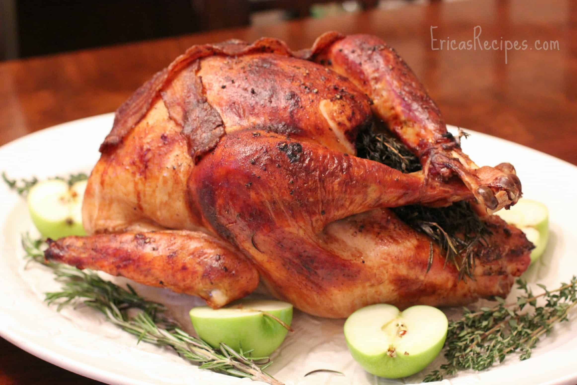 Easy Brined Roasted Turkey With Creamed Gravy Recipe ...