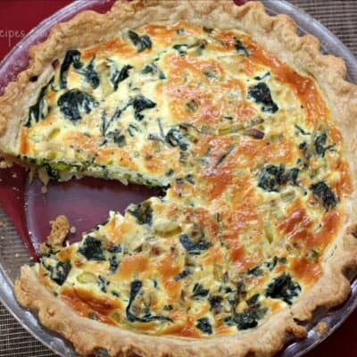Leek and Swiss Chard Quiche