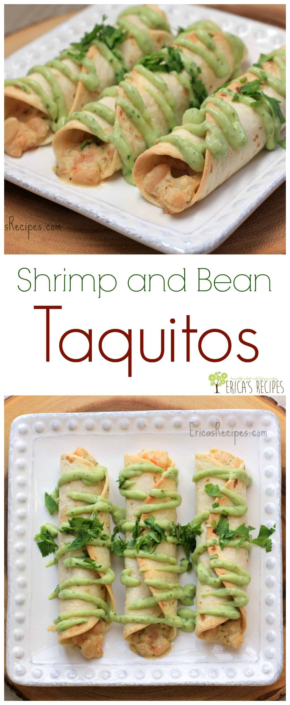Shrimp and Bean Taquitos from EricasRecipes.com
