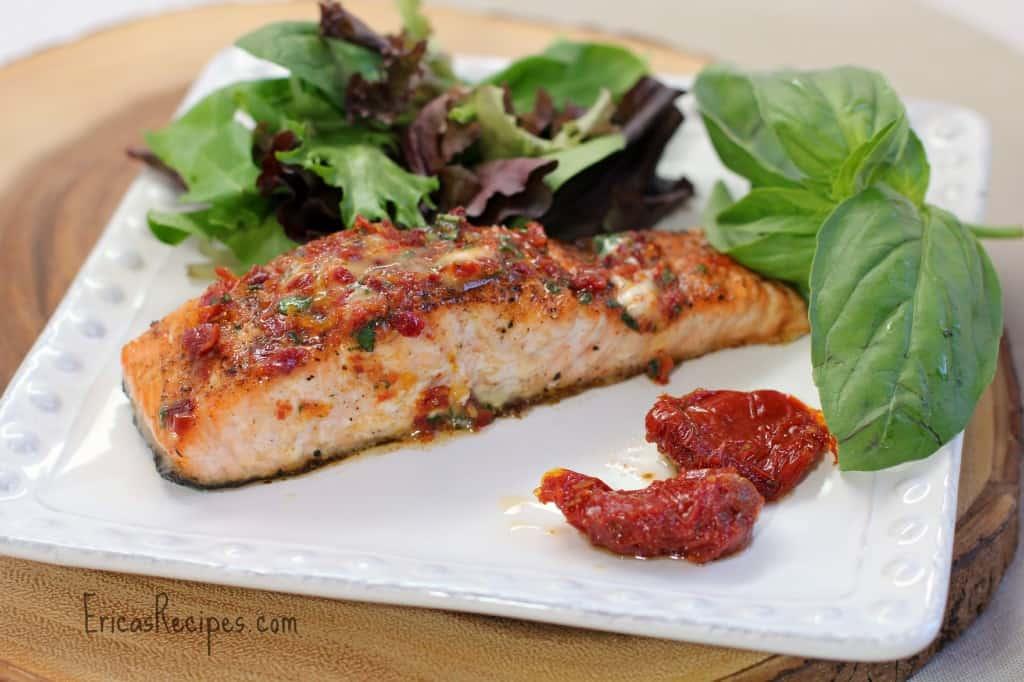 Sundried Tomato Basil Finishing Butter for Steak or Salmon