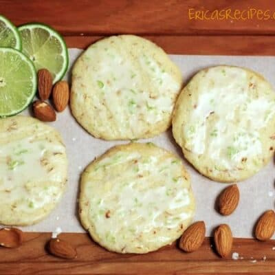 Almond Shorties with Lime Vodka Icing