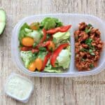 Taco Salad with Avocado Herb Dressing {Healthy Week Lunches Series}