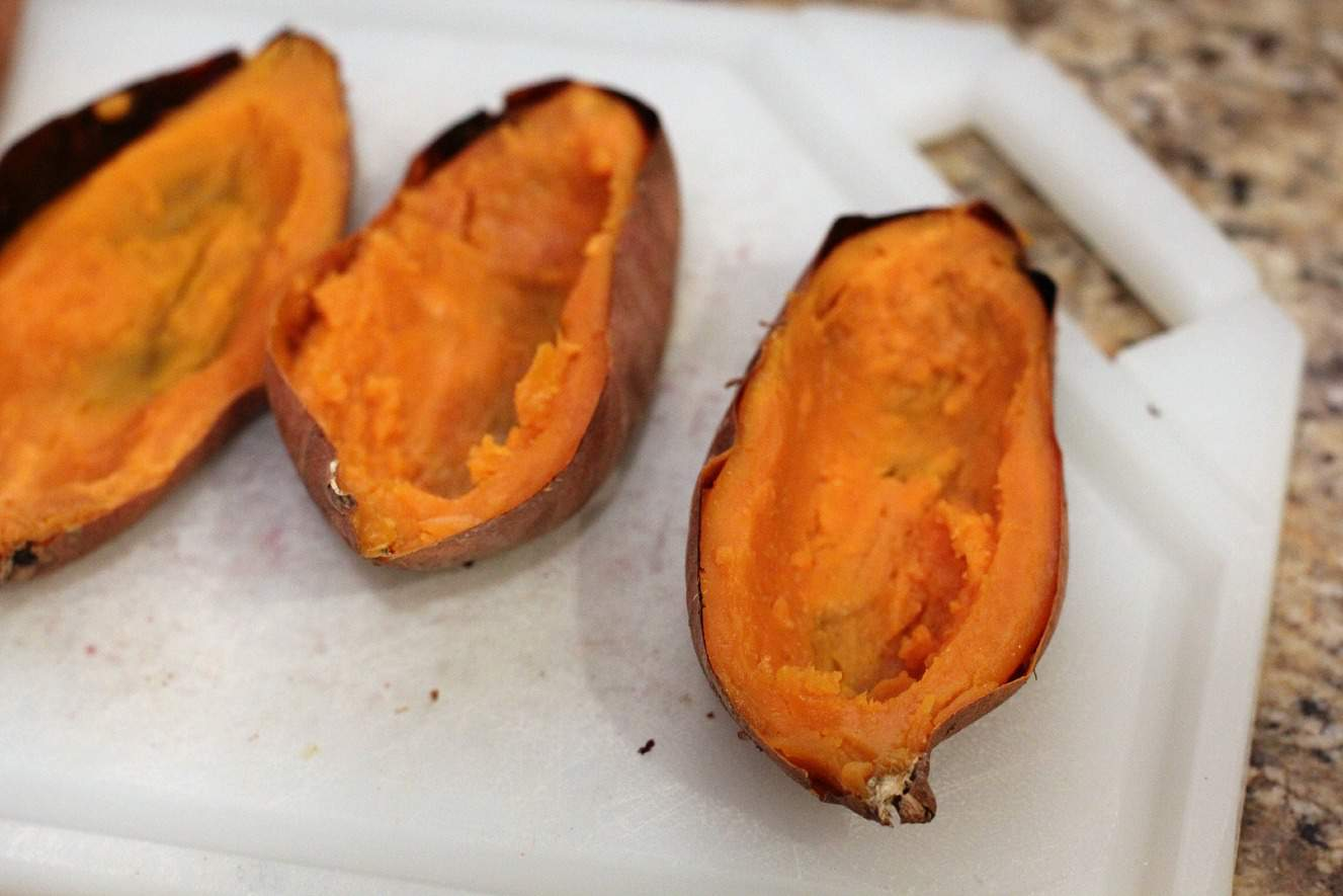 Twice Baked Sweet Potatoes with Cranberry and Biscoff ...