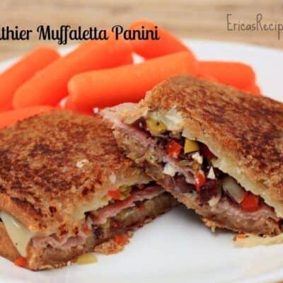 Healthier Muffaletta Panini