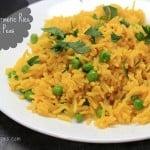 Simple Turmeric Rice with Peas