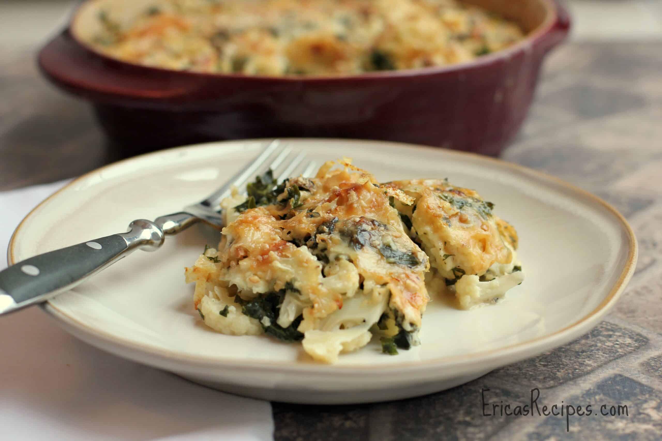 Cauliflower and Kale Gratin (Gluten-Free)