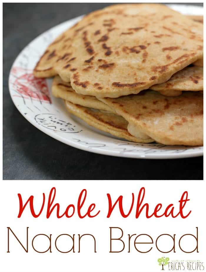 Whole Wheat Naan Bread from EricasRecipes.com
