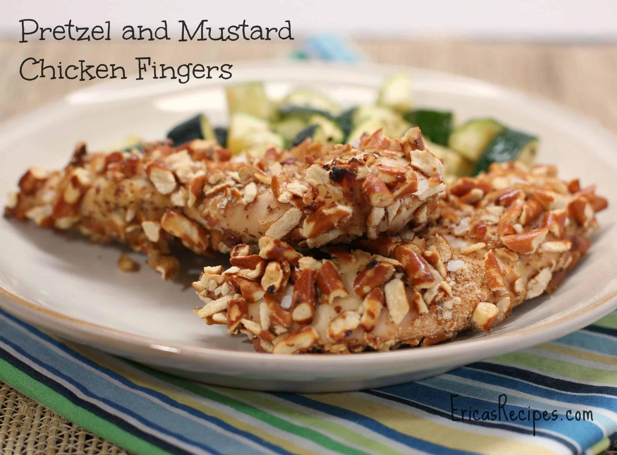 Pretzel and Mustard Chicken Fingers