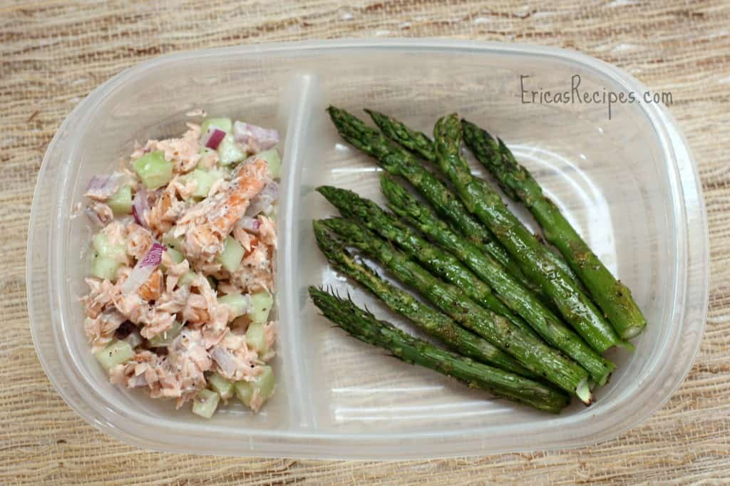 Healthy Week: Lunches 6 {Salmon, Cucumber, and Greek Yogurt Salad}