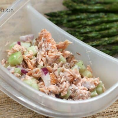 Salmon, Cucumber, and Greek Yogurt Salad