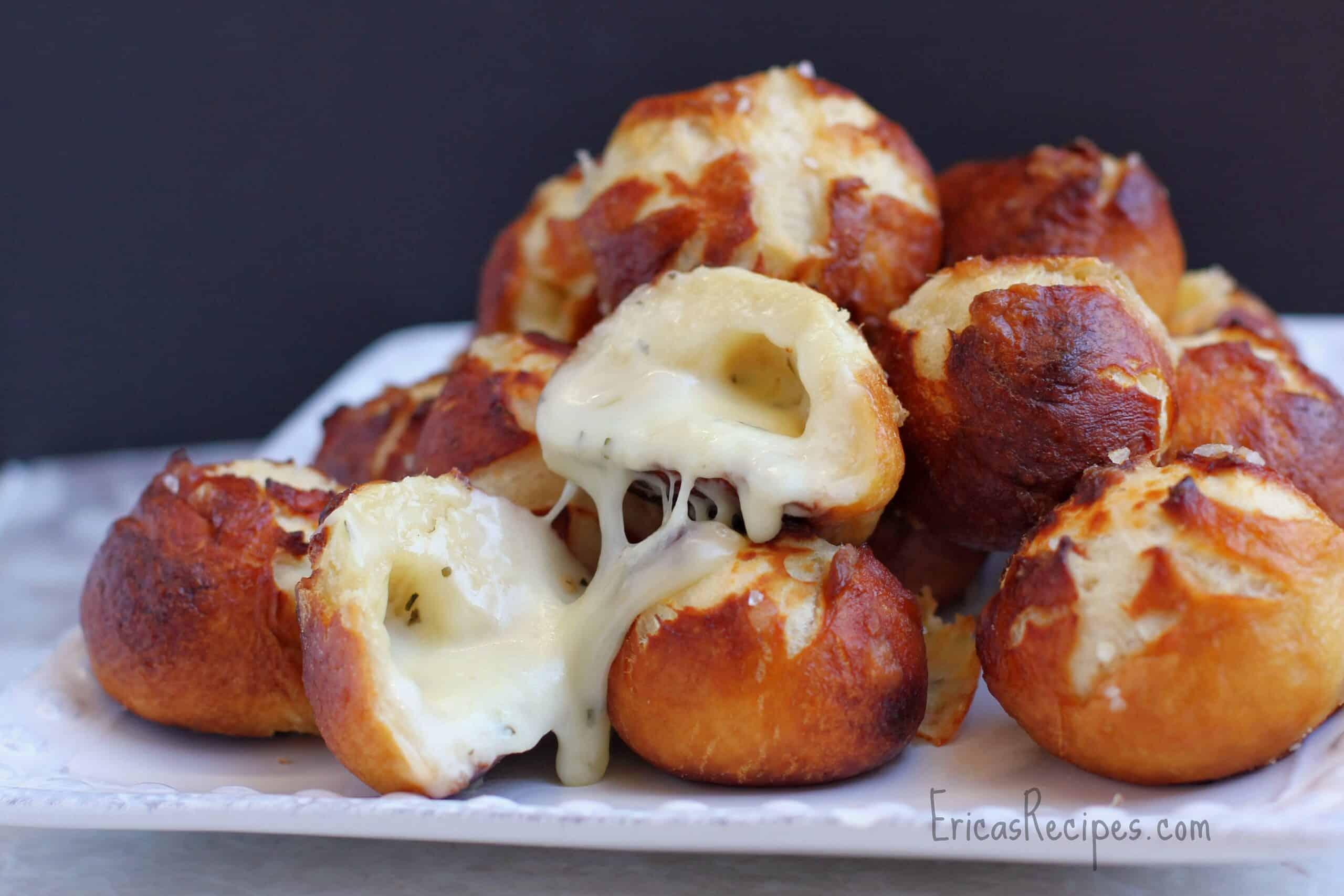 and Tomato Garlic Bread. Garlic Cheese-Stuffed Pretzel