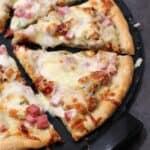 Chicken Cordon Bleu Pizza - EricasRecipes.com