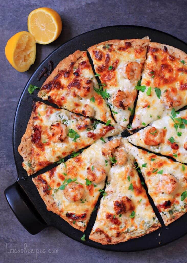 Four Cheese Shrimp Scampi Pizza 183 Erica S Recipes