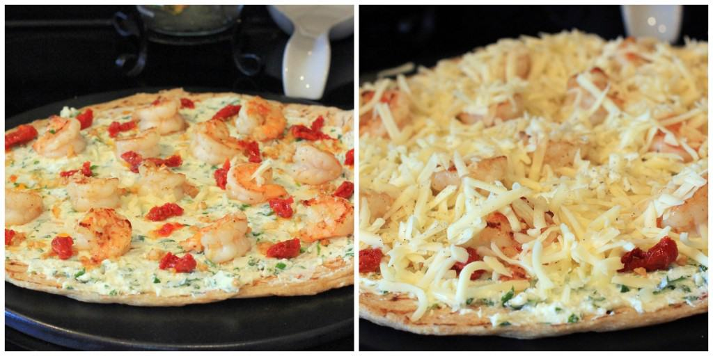 Four Cheese Shrimp Scampi Pizza