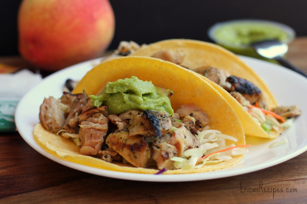 Orange and Cilantro-Marinated Chicken Tacos