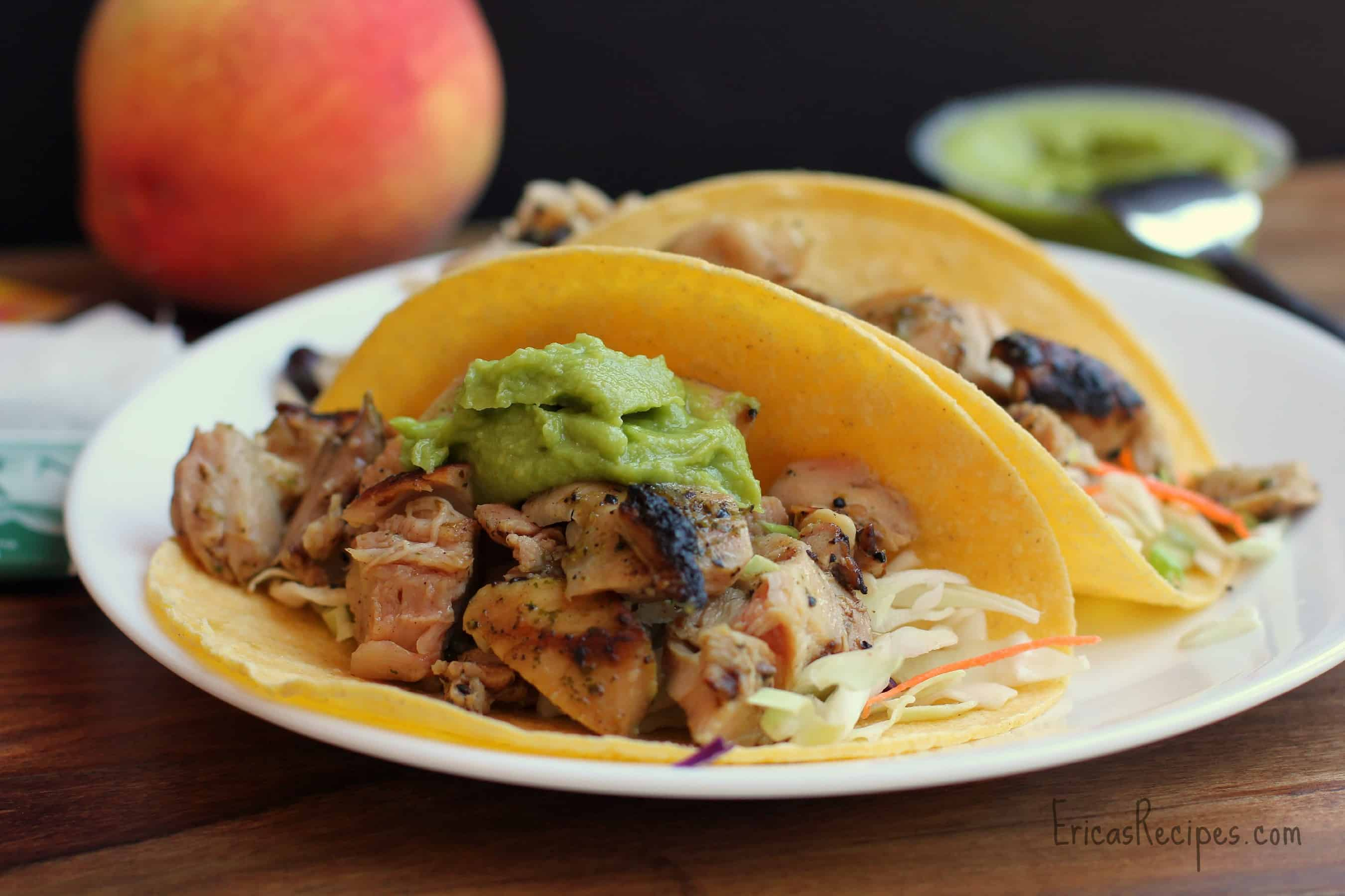 Healthy Week: Lunches 8 {Orange and Cilantro-Marinated Chicken Tacos}