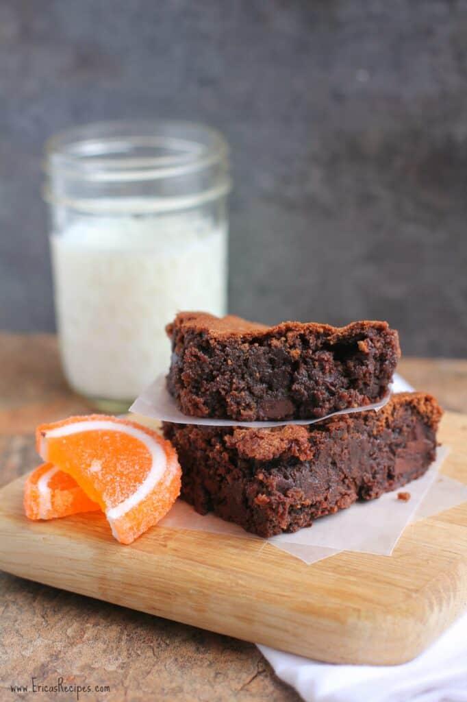 Blood Orange and Dark Chocolate Brownies