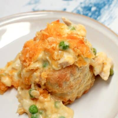 Cheesy Individual Chicken Casserole en Puff