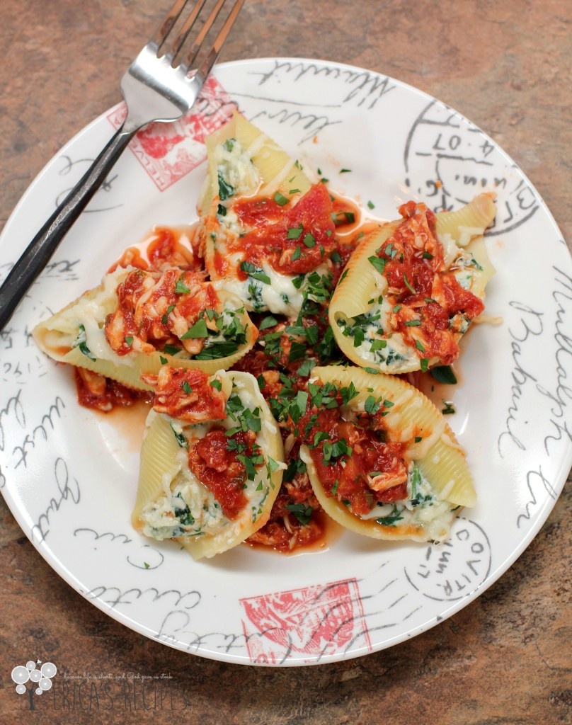 Blue Crab Marinara with Stuffed Shells Florentine