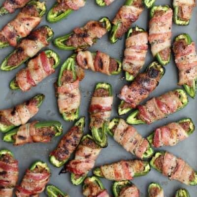 BBQ Sausage-Stuffed Grilled Jalapenos