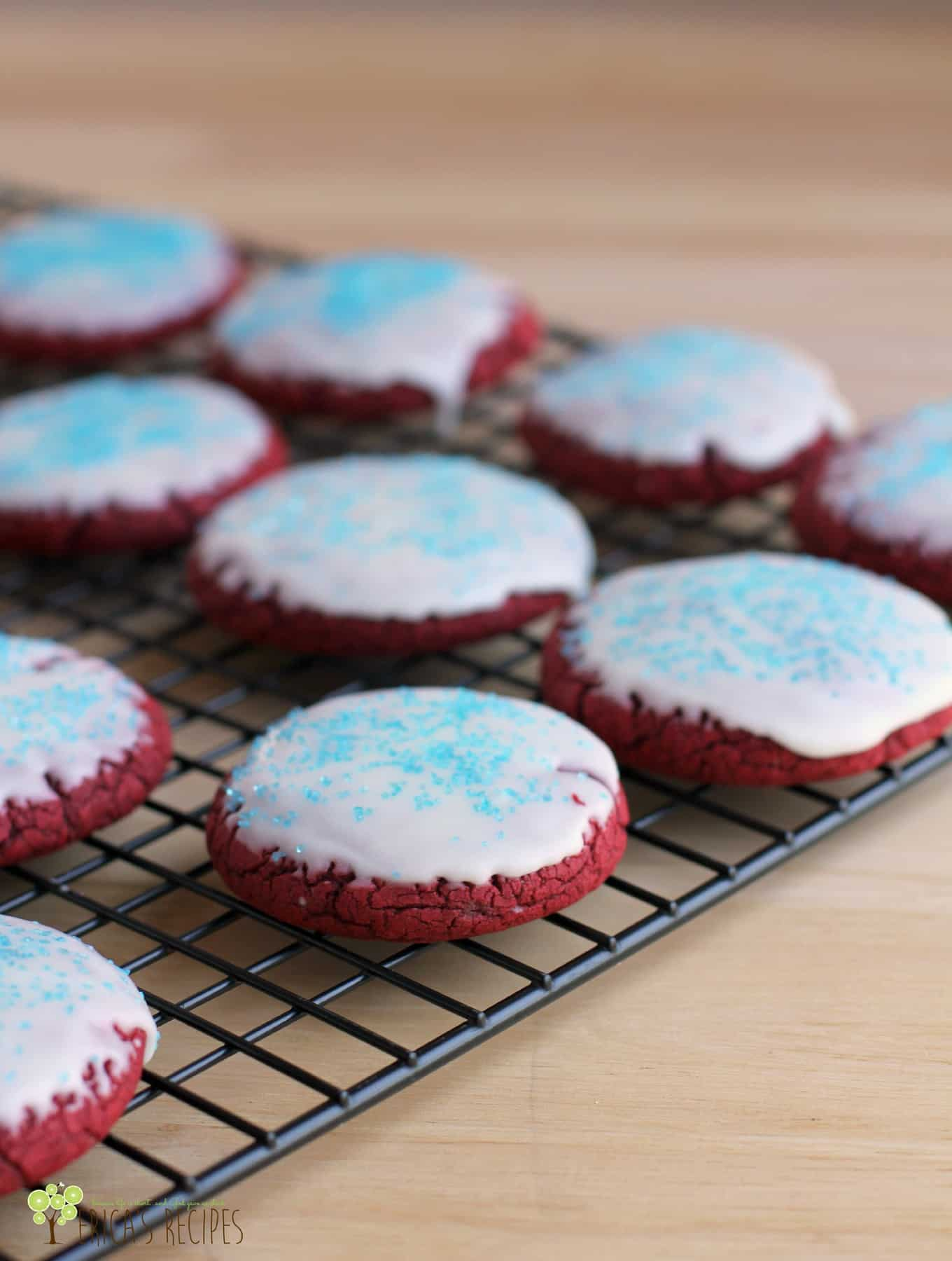 Red Velvet Thumbprint Cookies Using Cake Mix