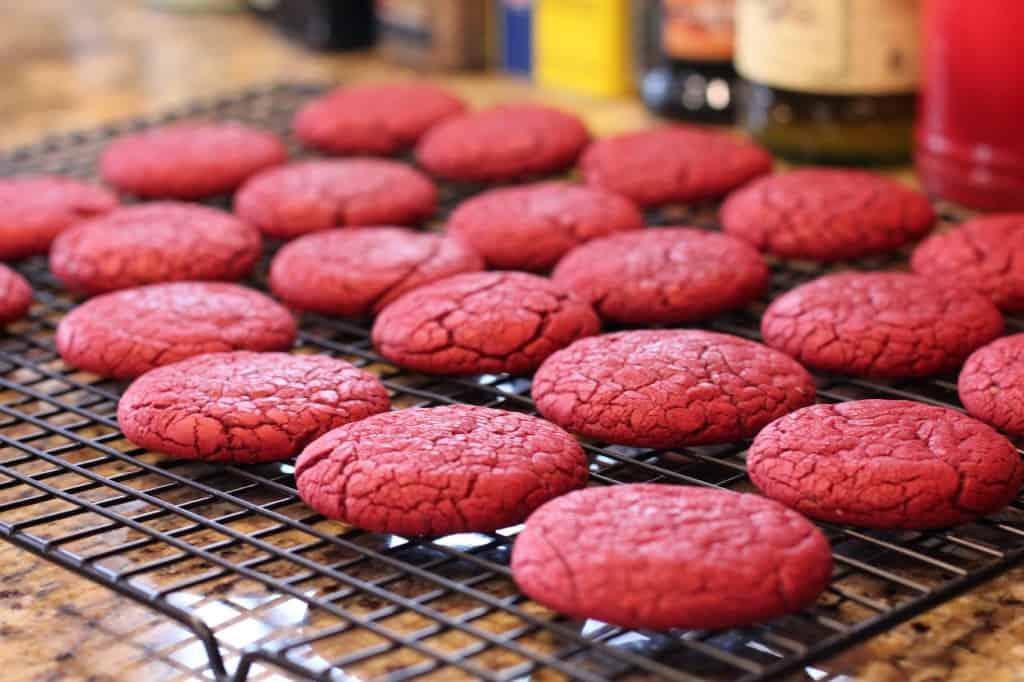'Murica Red Velvet Cake Mix Cookies