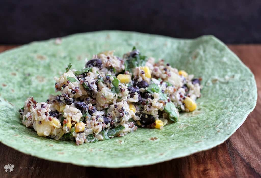 Sweet Summer Quinoa and Black Bean Power Wraps
