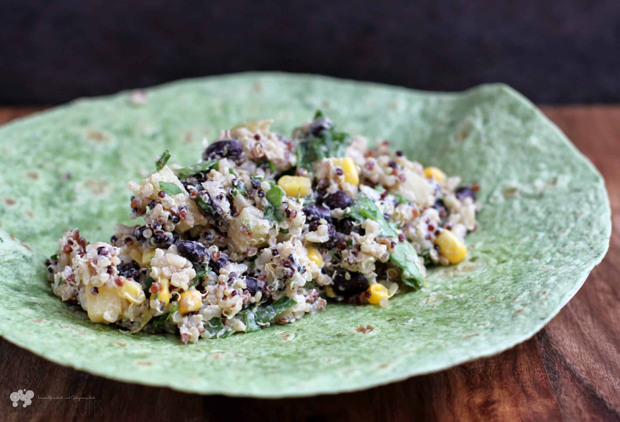 ... Week: Lunches 9 {Sweet Summer Quinoa and Black Bean Power Wraps