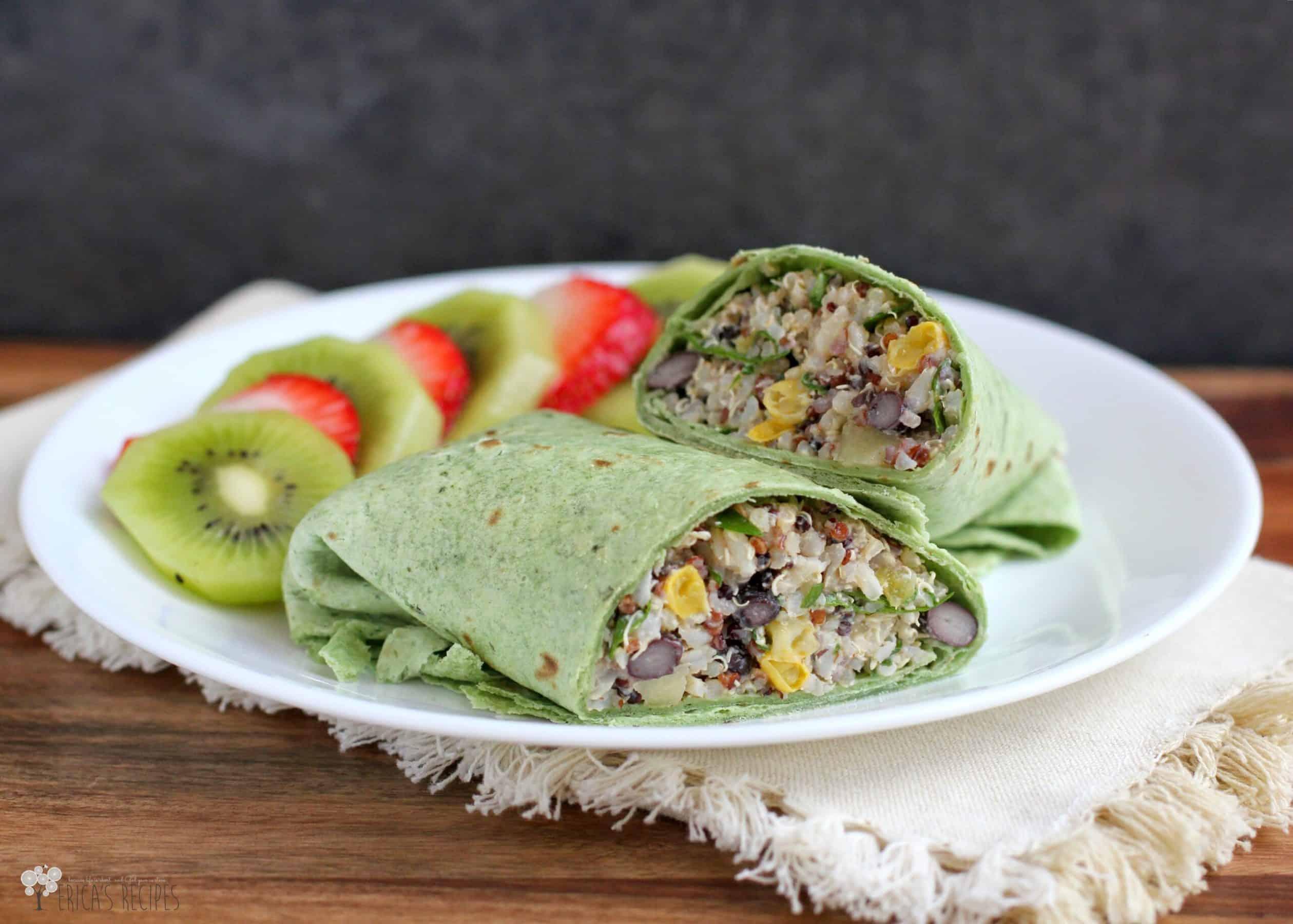 Quinoa and Black Bean Power Wraps