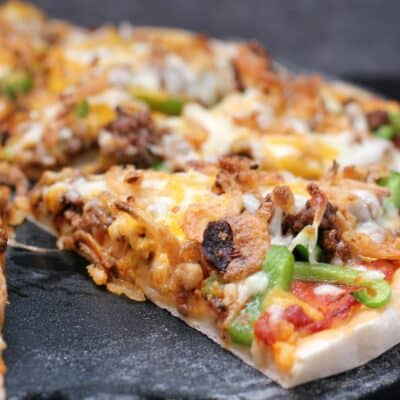 Chili Cheeseburger Pizza