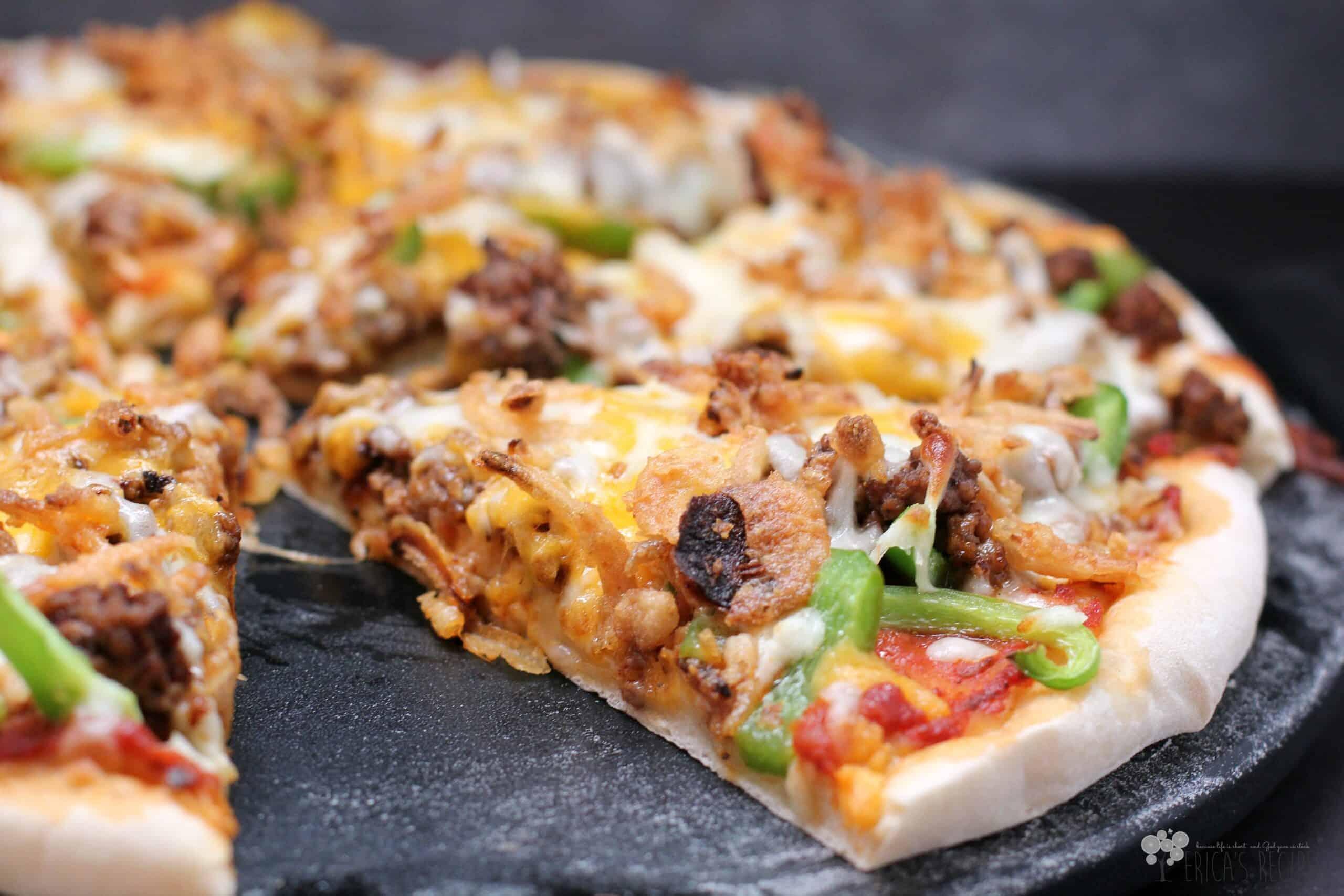 Chili Cheeseburger Pizza