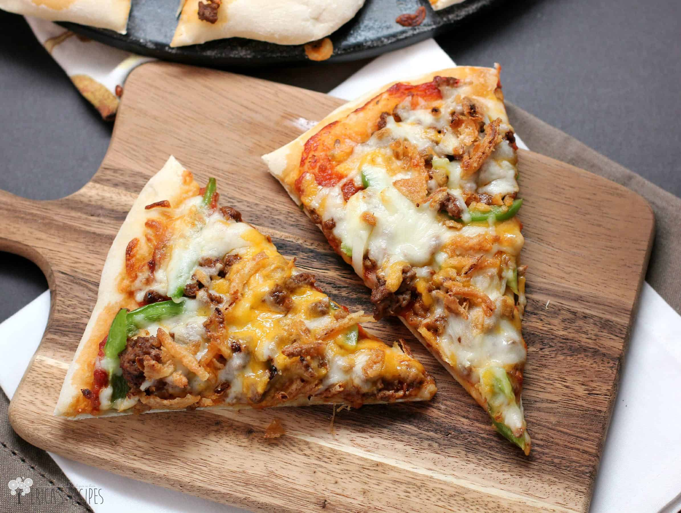 Пицца чизбургер рецепт с фото пошагово