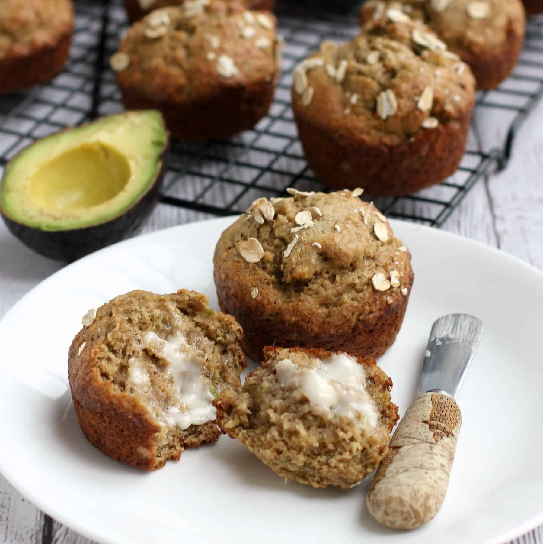 banana muffins with flaxseed meal