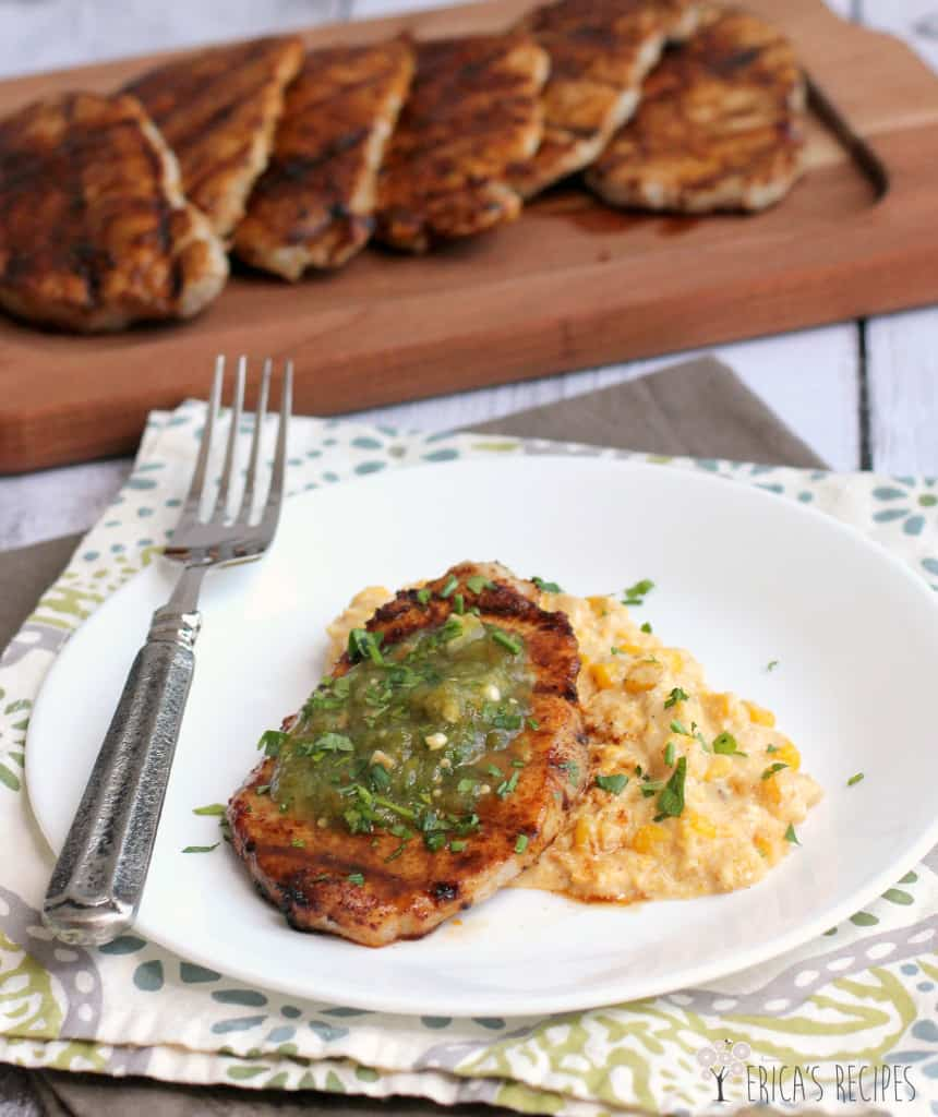 ... rubbed pork chops with corn salsa recipes dishmaps chili rubbed