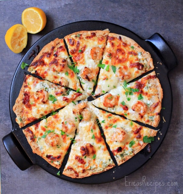 Four Cheese Shrimp Scampi Pizza