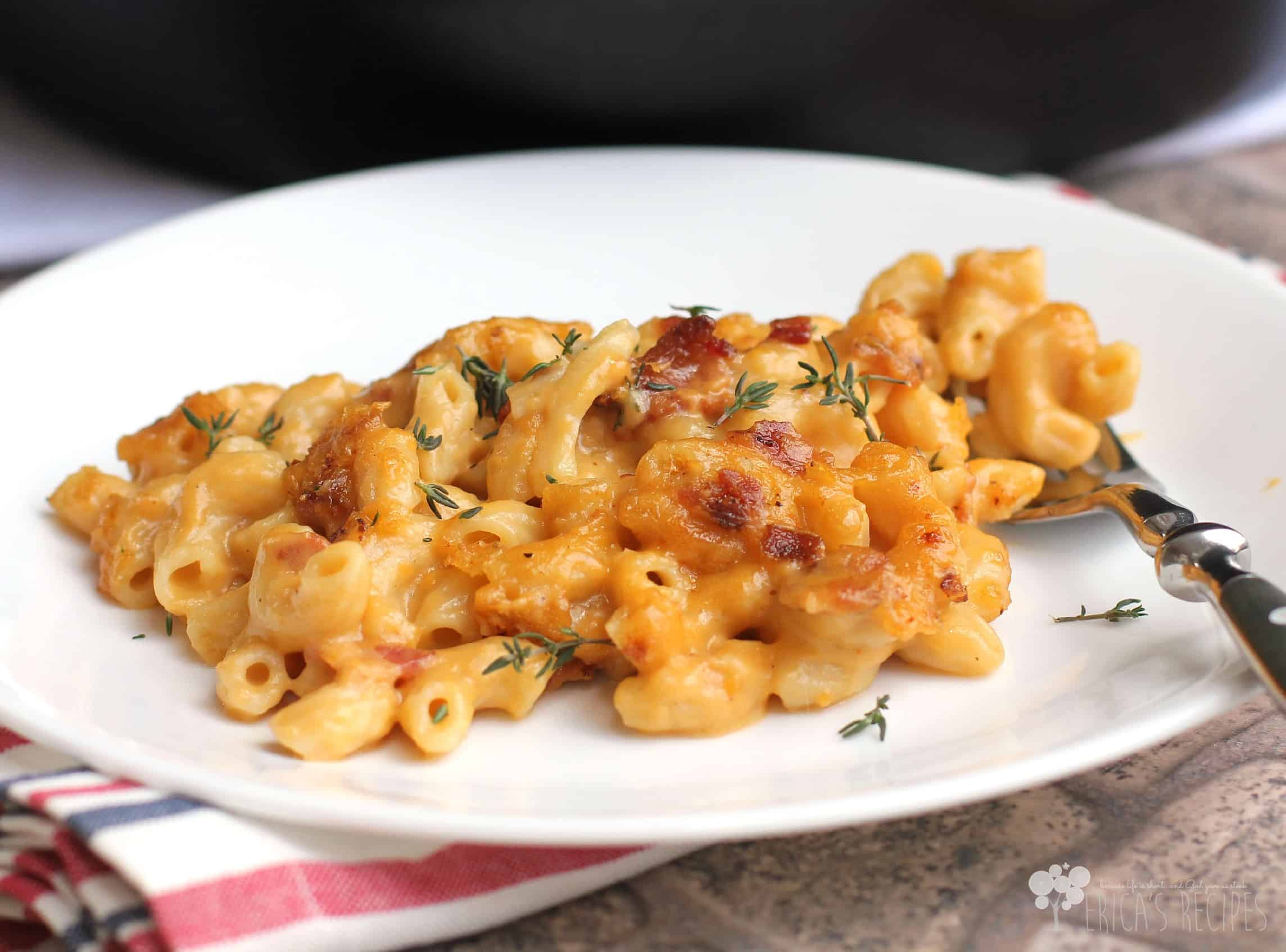 Garlic, Bacon, and Beer Macaroni and Cheese - Erica's Recipes