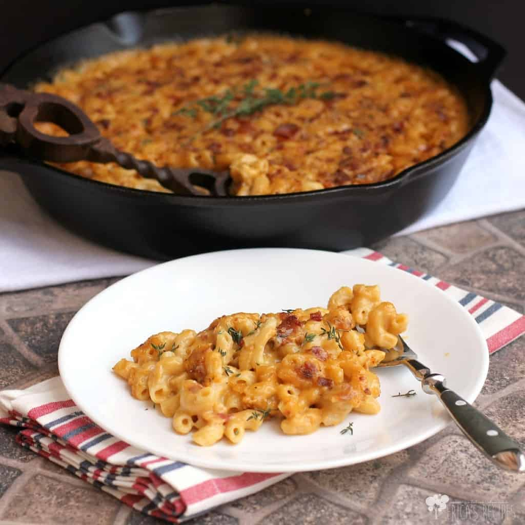 Garlic, Bacon, and Beer Macaroni and Cheese | EricasRecipes.com