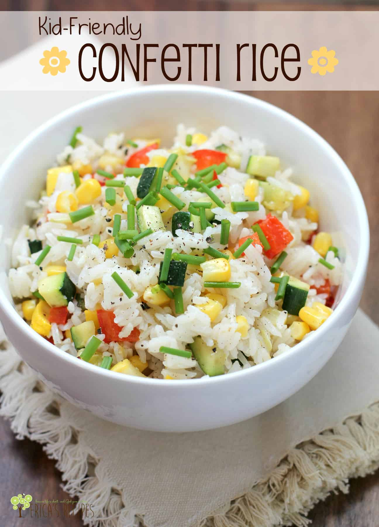 Kid friendly confetti rice ericas recipes forumfinder Images