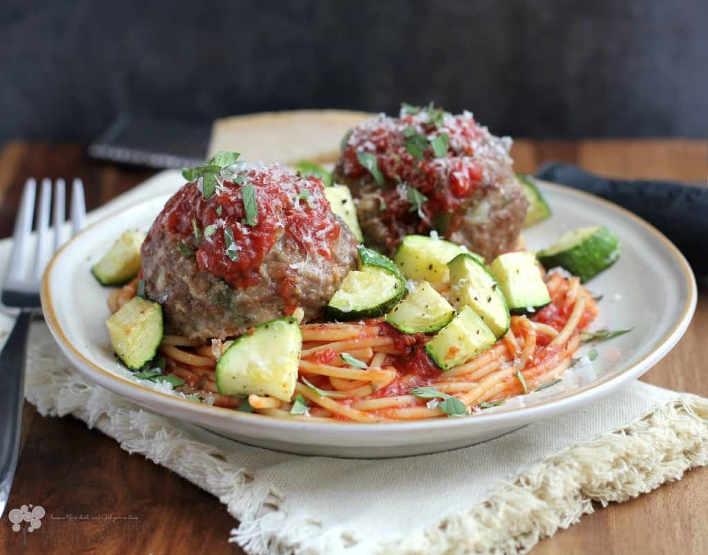 Spaghetti, Zucchini, and Meatballs: Cheap Meal of the Week | EricasRecipes.com