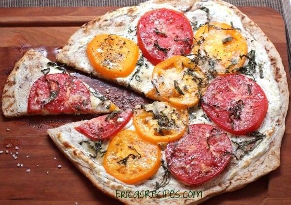Tomato Basil Boursin Pizza