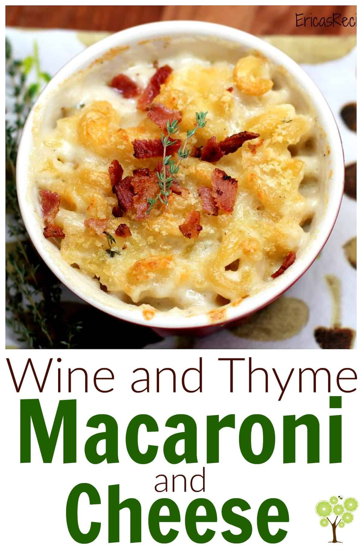 Wine and Thyme Macaroni and Cheese #recipe #macaroniandcheese #food #comfortfood #cheese