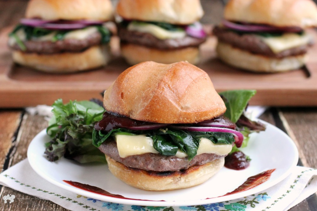 Cherry Chipotle Barbecue Cheeseburger