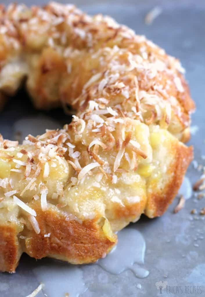 Pina Colada Monkey Bread