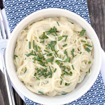 Sour Cream Pasta with Chives