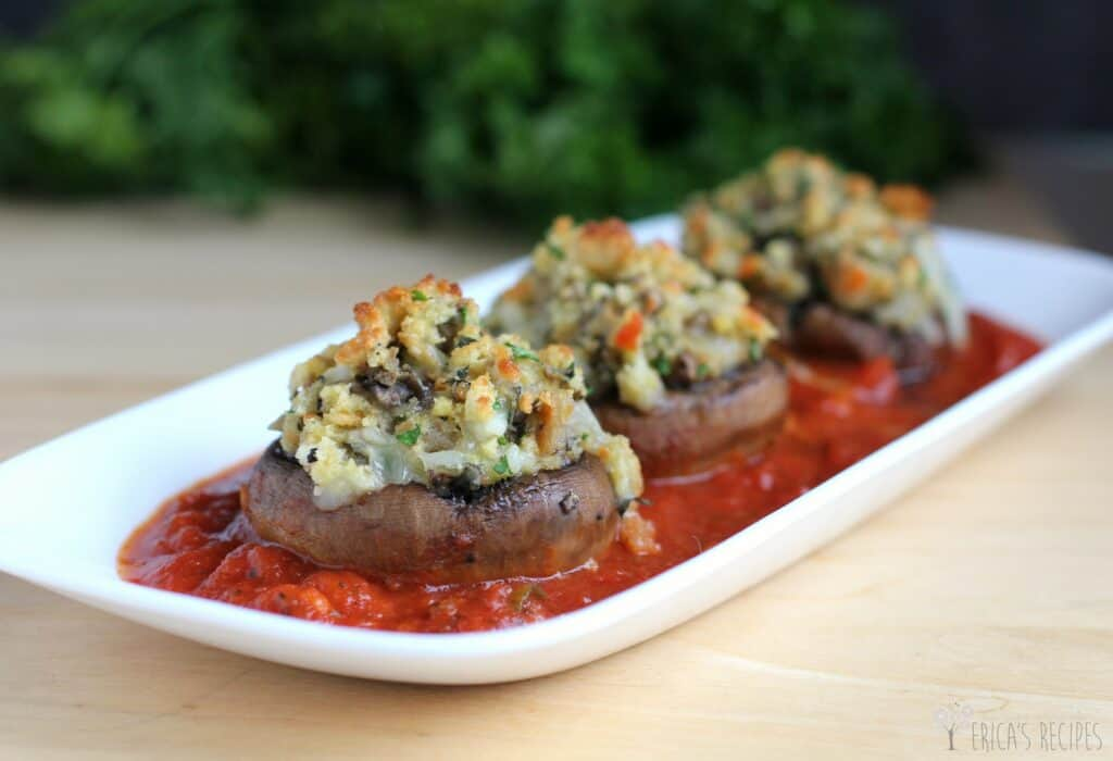 Stuffed Mushrooms Parmigiana